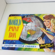 Cajas y cajitas metálicas: CAJA METÁLICA DE TÉMPERAS DE WALL PAINT BOX DE GRAN TAMAÑO MEDIDAS 30,5 X 24 CENTÍMETROS EN RELIEVES. Lote 153686994