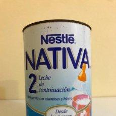 Cajas y cajitas metálicas: ANTIGUA LATA DE LECHE CONTINUACIÓN, NESTLE NATIVA 2. Lote 153732942