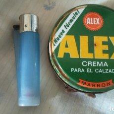 Cajas y cajitas metálicas: LATA CREMA PARA EL CALZADO ZAPATOS ALEX MARRÓN . Lote 154200970