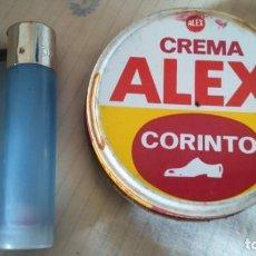 Cajas y cajitas metálicas: LATA CREMA PARA EL CALZADO ZAPATOS ALEX . Lote 154201146