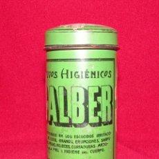 Cajas y cajitas metálicas: POLVOS DE TALCO CALBER. FARMACIA. Lote 154335602