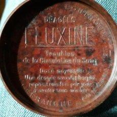 Cajas y cajitas metálicas: CAJA DE BAQUELITA. FLUXINE. MEDICAMENTO.ENROSCABLE. CIRCA 1939. Lote 154547928