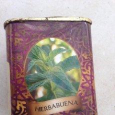 Cajas y cajitas metálicas: PEQUEÑA CAJA METALICA PARA HIERBABUENA, COCINA , ESPECIAS. Lote 154747998
