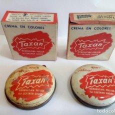 Cajas y cajitas metálicas: LOTE DE 2 CAJAS DE CREMA EN COLORES - TAXAN- PAMPLONA AÑOS 50. Lote 154781618