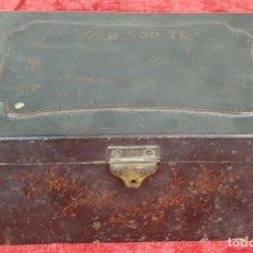 Cajas y cajitas metálicas: CAJA DE TÉ. MADERA LACADA. DECORADA A MANO. CHINA. SIGLO XIX-XX. . Lote 155059402