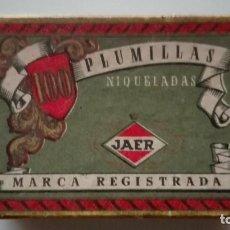 Cajas y cajitas metálicas: CAJA PLUMILLAS JAER . Lote 155156770