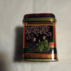 Cajas y cajitas metálicas: CAJITA METALICA DE TE CON DIBUJOS CHINOS. Lote 155159758