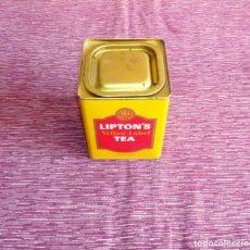 Cajas y cajitas metálicas: CAJA METALICA INFUSIONES - LIPTON'S - TEA. Lote 155525222