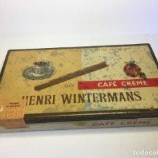 Cajas y cajitas metálicas: ANTIGUA CAJA DE METAL CIGARRILLOS HENRI WINTERMANS CAFE CREME . Lote 155685034