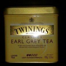 Cajas y cajitas metálicas: CAJA METALICA DE TE . TWININGS OF LONDON. EARL GREY TEA. Lote 155802242