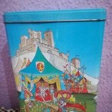 Cajas y cajitas metálicas: BOTE NESQUIK AÑOS 80 TEMÁTICA MEDIEVAL. Lote 155829774