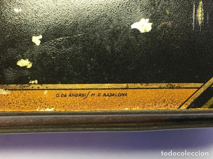 Cajas y cajitas metálicas: ANTIGUA CAJA DE METAL LITOGRAFIADA G. DE ANDREIS M.E. BADALONA - Foto 3 - 155849102
