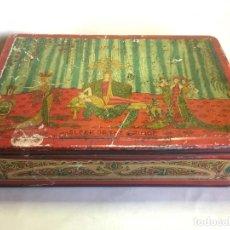 Cajas y cajitas metálicas: ANTIGUA CAJA DE METAL LITOGRAFIADA SLEEP OF THE PRINCE. Lote 155854190