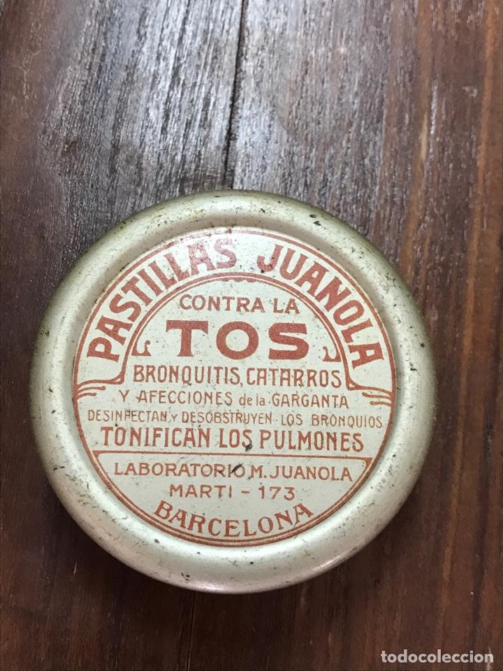 CAJA PASTILLAS JUANOLA AÑOS 20 (Coleccionismo - Cajas y Cajitas Metálicas)