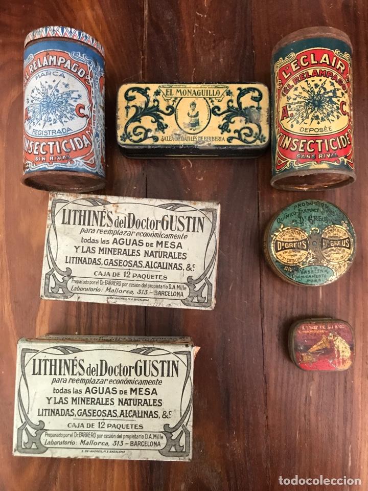 LOTE DE 7 CAJAS METÁLICAS DE FARMACIA (Coleccionismo - Cajas y Cajitas Metálicas)