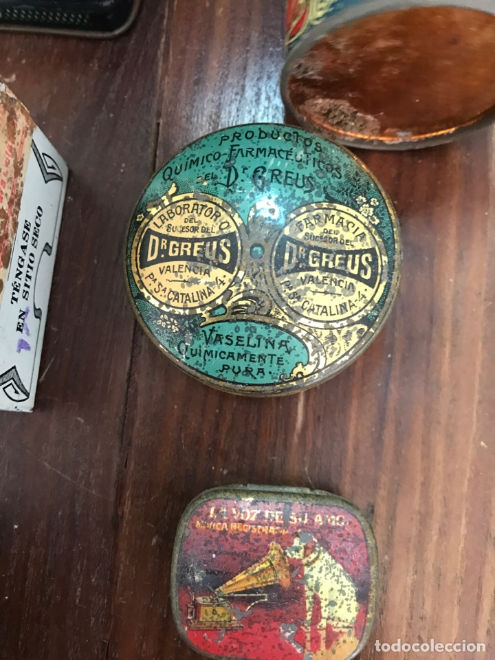 Cajas y cajitas metálicas: Lote de 7 cajas metálicas de farmacia - Foto 2 - 156120674