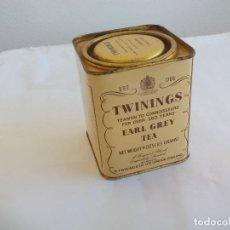 Casse e cassette metalliche: ANTIGUA CAJA DE METAL, LATA, TWININGS EARL GREY TEA. 260 YEARS. TIN BOX. Lote 156451050