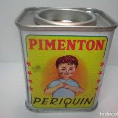 Cajas y cajitas metálicas: LATA DE PIMENTON PERIQUIN. Lote 156553186