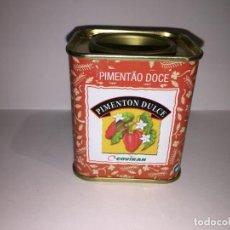 Cajas y cajitas metálicas: LATA DE PIMENTON DULCE COVIRAN. Lote 156555518