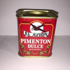 Cajas y cajitas metálicas: LATA DE PIMENTON DULCE EL AVION. Lote 156555654