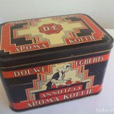 Cajas y cajitas metálicas: CAJA DE METAL, LATA, DE CAFE DOUWE EGBERTS. AROMA KOFFIE. . TIN BOX. Lote 156561054