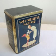 Cajas y cajitas metálicas: CAJA DE METAL, LATA, DE CAFÉ VAN NELLE'S KOFFIE. WAARBORGT HWALITEIT. HOLLAND. TIN BOX. Lote 156561626