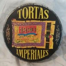 Cajas y cajitas metálicas: LATA TORTAS IMPERIALES DE HIJO DE MANUEL S SOLER JIJONA ESPAÑA. Lote 156598734