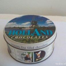 Cajas y cajitas metálicas: CAJA DE METAL, LATA, , HOLLAND CHOCOLATES ROSENBERG, AMSTERDAM. .. TIN BOX. Lote 156661554