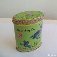 Cajas y cajitas metálicas: CAJA DE METAL, LATA. SHUI SEN TEA. THEE, KWONG SANG TEA CO. HONG KONG. TE. TIN BOX. Lote 156663282