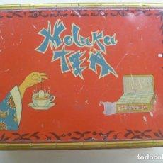 Cajas y cajitas metálicas: ANTIGUA CAJA DE METAL DE MOLUKA TEA . Lote 156680910