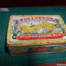 Cajas y cajitas metálicas: NOVELDA ALICANTE.POLLUELOS. Lote 156787737