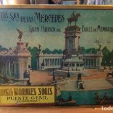 Cajas y cajitas metálicas: NTRA SRA DE LAS MERCEDES GRAN FÁBRICA DE DULCE DE MEMBRILLO. ADRIANA MORALES SOLIS. MADRID RETIRO. . Lote 156818462