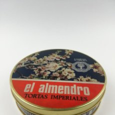 Cajas y cajitas metálicas: CAJA TORTAS IMPERIALES EL ALMENDRO . Lote 157282574