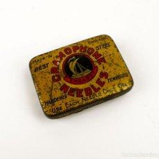 Cajas y cajitas metálicas: CAJITA METAL LITOGRAFIADO DE AGUJAS DE GRAMÓFONO - EMBASSY. Lote 157825754