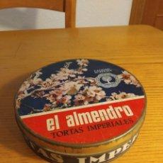 Cajas y cajitas metálicas: CAJA HOJALATA. TORTAS IMPERIALES EL ALMENDRO. 20 CMS ∅. Lote 157911478