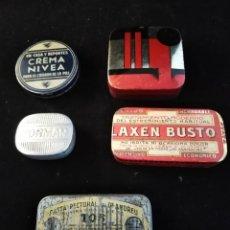 Cajas y cajitas metálicas: LOTE 5 CAJITAS METÁLICAS. Lote 194518745