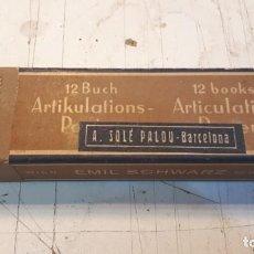 Cajas y cajitas metálicas: CAJA 12 BUCH ARTIKULATIONS. A. SOLÉ PALOU. BARCELONA.. Lote 158393086