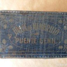 Cajas y cajitas metálicas: CAJA DE HOJALATA LITOGRAFIADA DE PUENTE GENIL. DULCE DE MEMBRILLO. Lote 158579562