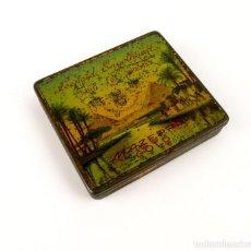 Cajas y cajitas metálicas: ANTIGUA CAJITA METAL LITOGRAFIADO DE TABACO O CIGARROS - LEOPOLD ENGELHARDT-CAIRO. Lote 158590986