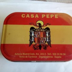 Cajas y cajitas metálicas: CAJA METÁLICA CASA PEPE. Lote 158815878