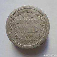 Cajas y cajitas metálicas: CAJITA ALUMINIO BOMBONES RIQUER. Lote 158957154