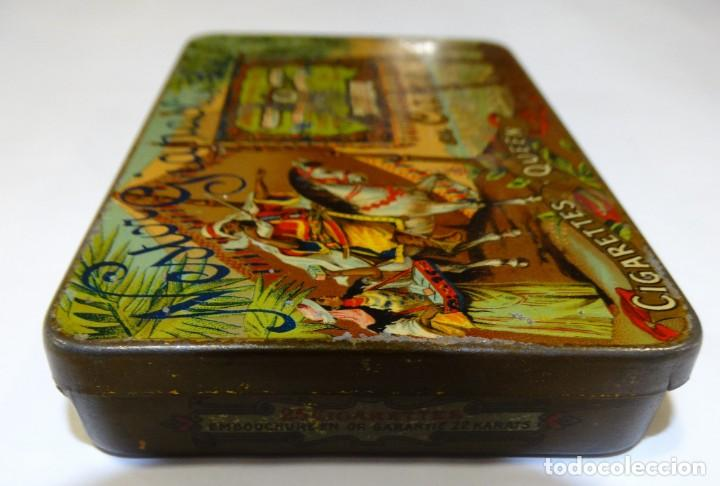 Cajas y cajitas metálicas: CAJA LITOGRAFIADA DE HOJALATA DE NESTOR GIANACLIS LID AU CAIRE CIGARETTES QUEEN EGYPTE - Foto 5 - 159108754