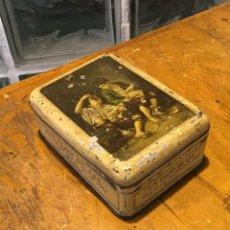 Cajas y cajitas metálicas: LA FLOR DE LIS, CAJA LITOGRAFIADA AÑOS 40. Lote 159113338