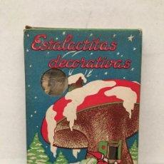 Casse e cassette metalliche: ANTIGUA CAJA DE ESTALACTITAS DECORATIVAS NAVIDAD AÑOS 70. Lote 159154962