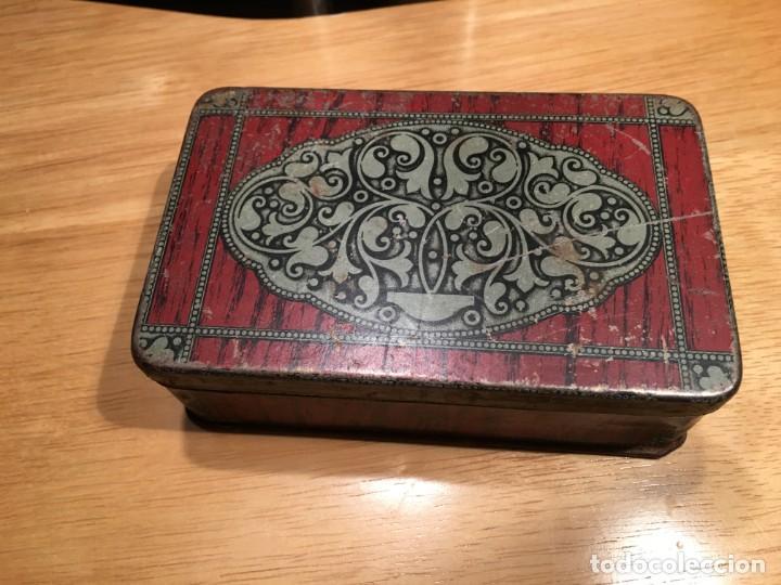 CAJA DE HOJALATA G. DE ANDREIS BADALONA (Coleccionismo - Cajas y Cajitas Metálicas)