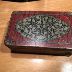Cajas y cajitas metálicas: CAJA DE HOJALATA G. DE ANDREIS BADALONA. Lote 159693518