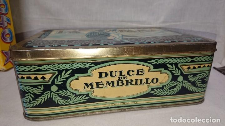 Cajas y cajitas metálicas: ANTIGUA CAJA METÁLICA DULCE DE MEMBRILLO LA FAMA - CHACON HERMANOS - PUENTE GENIL - Foto 2 - 159939622