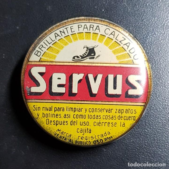 ANTIGUA CAJA DE BETUN SERVUS (Coleccionismo - Cajas y Cajitas Metálicas)