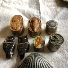 Cajas y cajitas metálicas: LOTE DE 8 CAJITAS DISTINTOS MATERIALES. Lote 160353669
