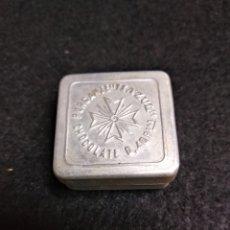 Cajas y cajitas metálicas: RARA CAJITA METALICA HAZUL. PURGANTE, CHOCOLATE.. Lote 160402142